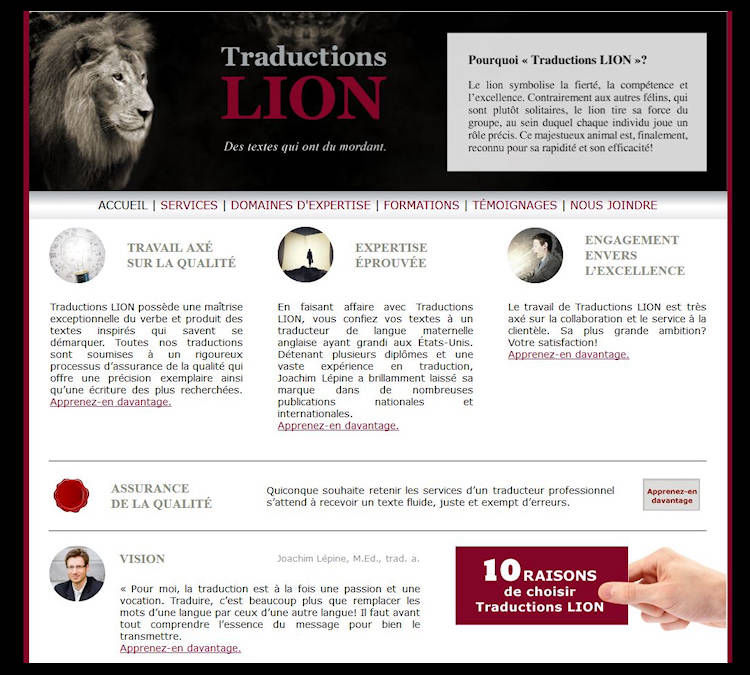 Traductions Lion